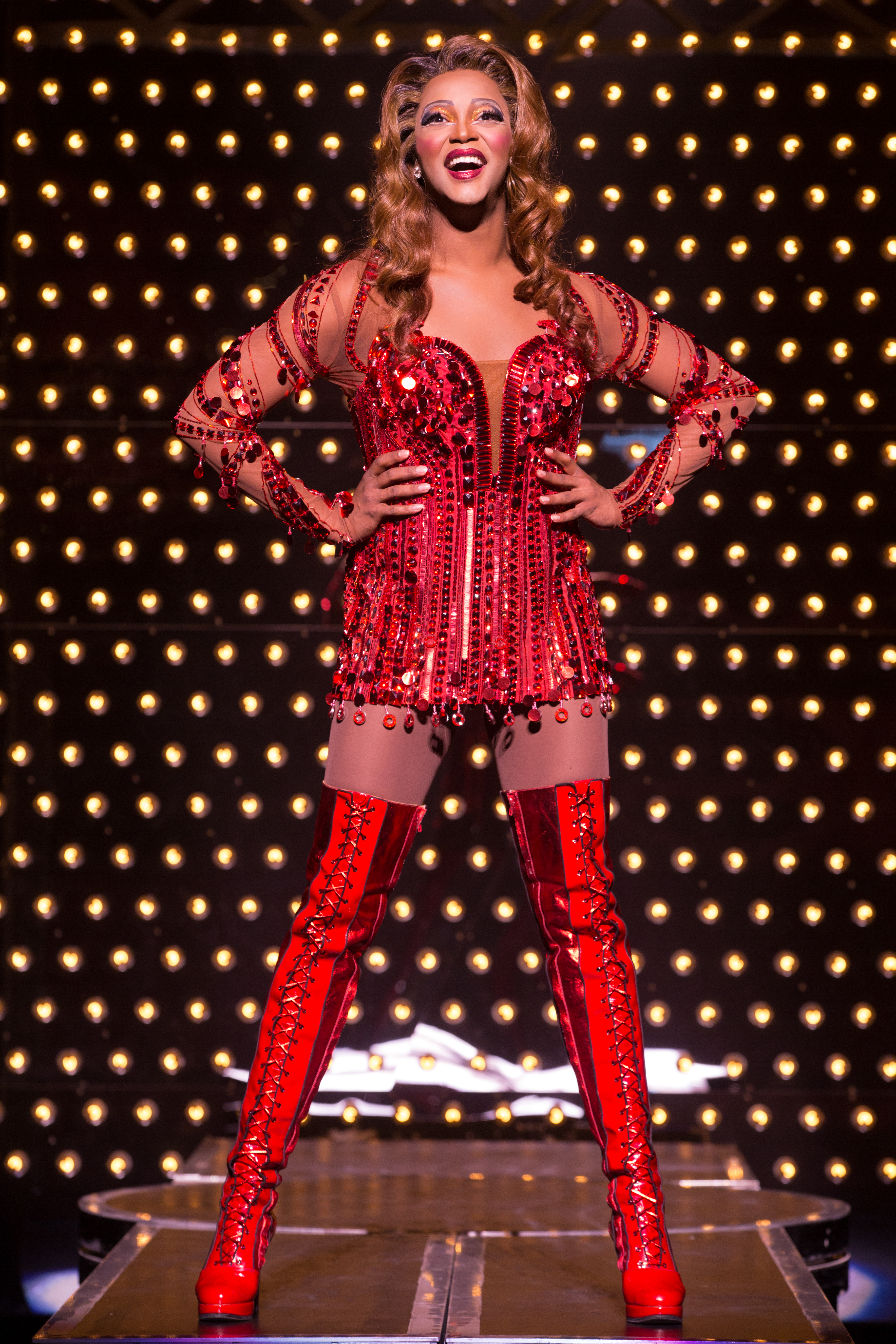 J. Harrison Ghee in the National Tour of Kinky Boot