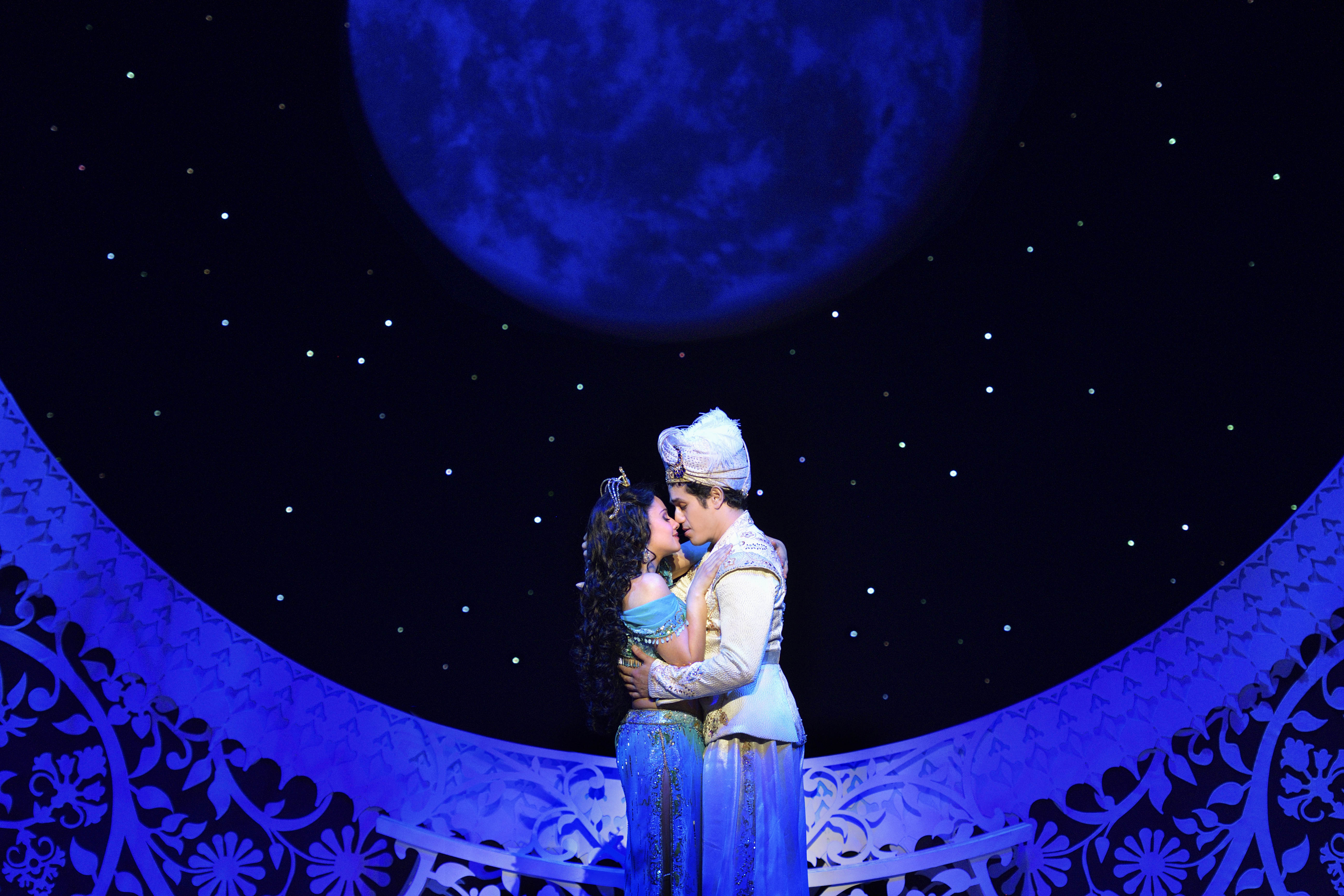 Disney Theatrical Productions under the direction of Thomas Schumacher presents Aladdin, the US tour, music by Alan Menken, lyrics by Howard Ashman and Tim Rice, book and additional lyrics by Chad Beguelin, opening night April 19 at Cadillac Palace Theatre in Chicago, starring: Adam Jacobs (Aladdin), Anthony Murphy (Genie), Isabelle McCalla (Jasmine), Zach Bencal (Babkak), Mike Longo (Kassim), Philippe Arroyo (Omar), Jonathan Weir (Jafar), Reggie de Leon (Iago) and JC Montgomery (Sultan) directed and choreographed by Casey Nicholaw